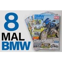 8mal BMW Motorräder ins Ausland